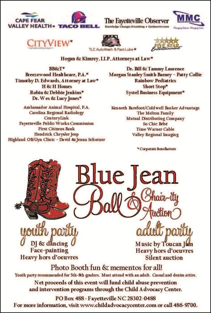 Blue Jean Ball  ChairIty Auction  Invitation Ideas