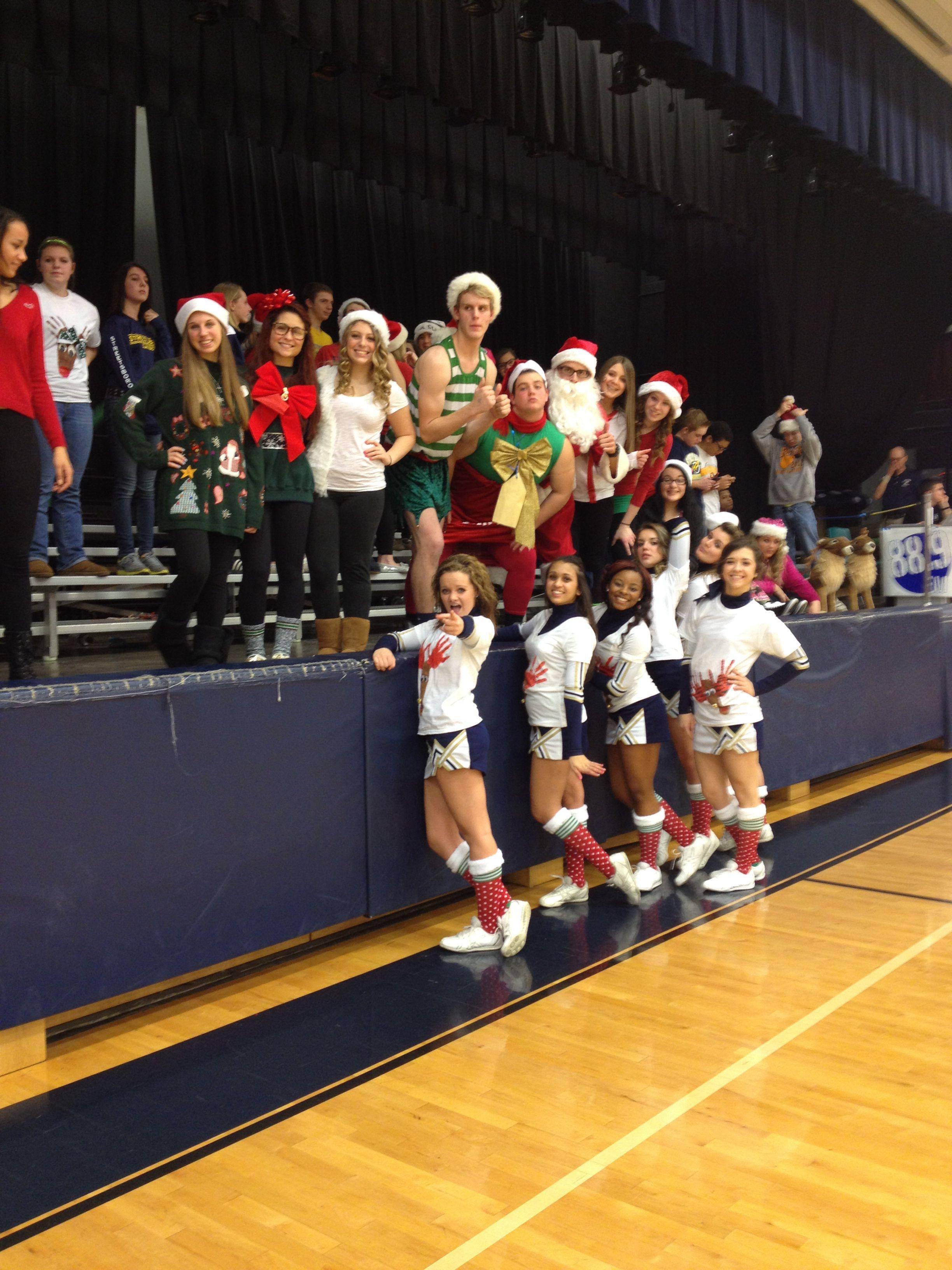 holiday theme school spirit game theme high school basketball game - Football Games On Christmas