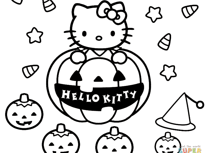 Hello Kitty Halloween Coloring Page Free Printable Coloring Pages Part 9 Hel Hello Kitty Colouring Pages Halloween Coloring Pages Free Halloween Coloring Pages