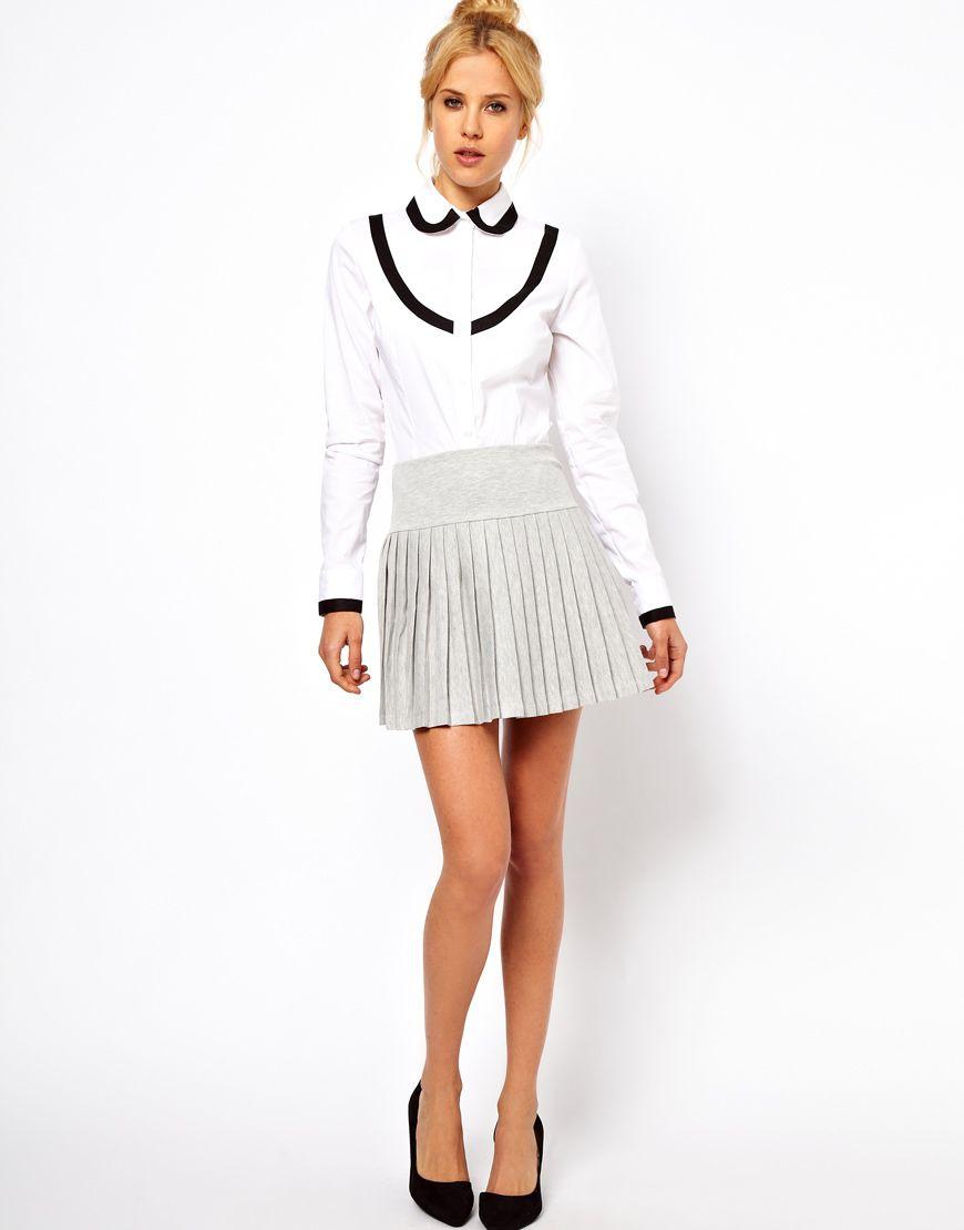 Pleated Mini Skirt with Drop Waist $42.39 | Fashion Items I love ...