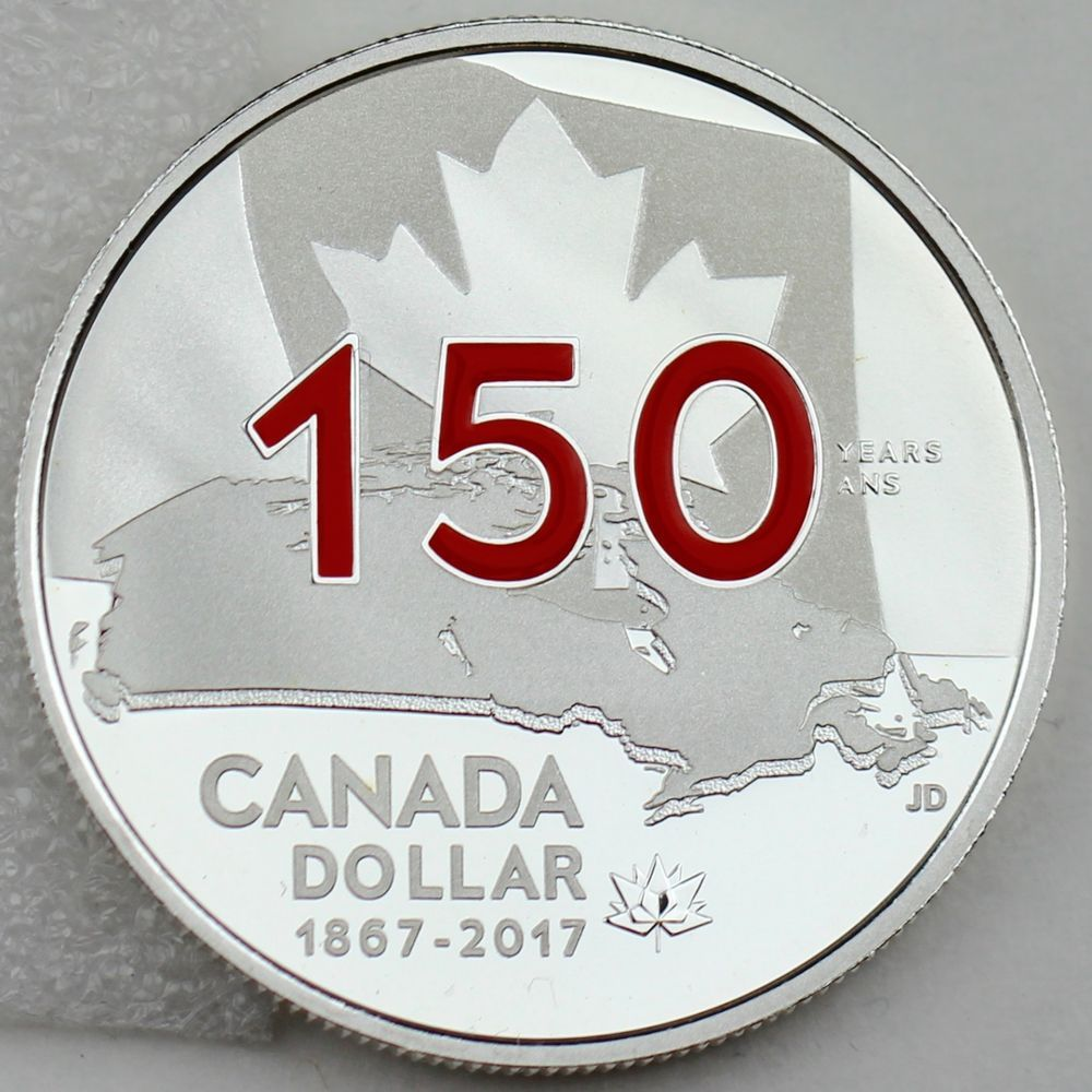 1867-2017 Special Edition Proof Pure Silver Dollar Canada Our Home /& Native Land