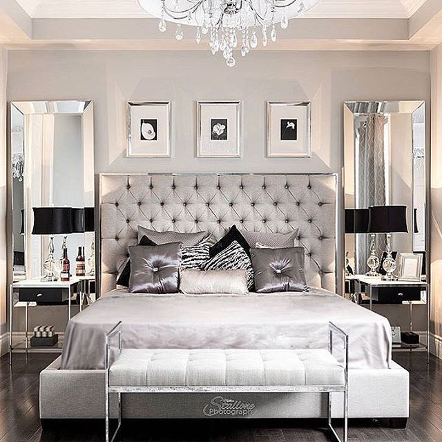 Pin By Armine On Bedroom Silver Bedroom Bedroom Home Bedroom