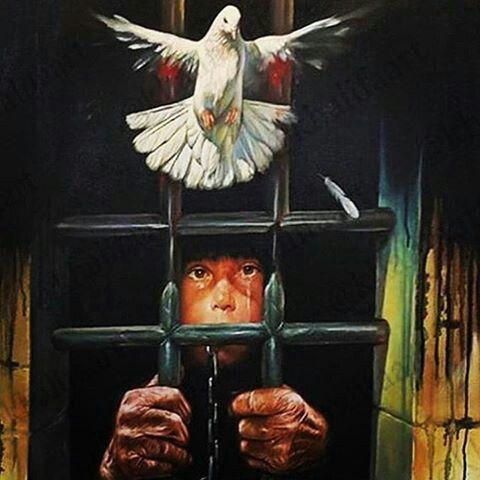 ليس كل من يكتب عن الحب فهو عاشق ف السجين معظم كتابته عن الحرية Art Painting