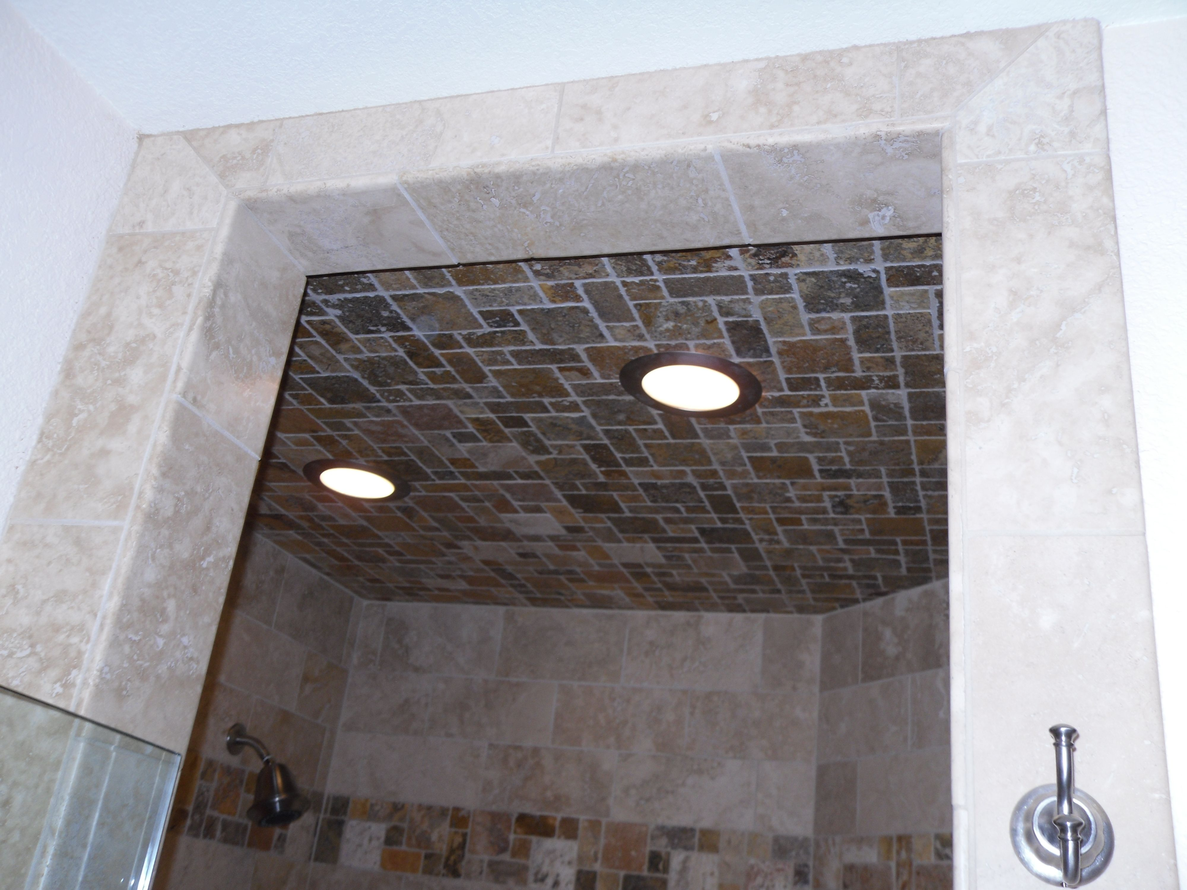 Shower ceiling tile. Kitchens and Bathrooms Pinterest