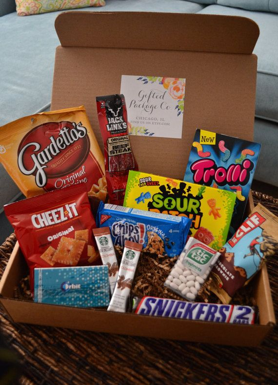 College Finals Survival Gift Box by GiftedPackageCo on Etsy