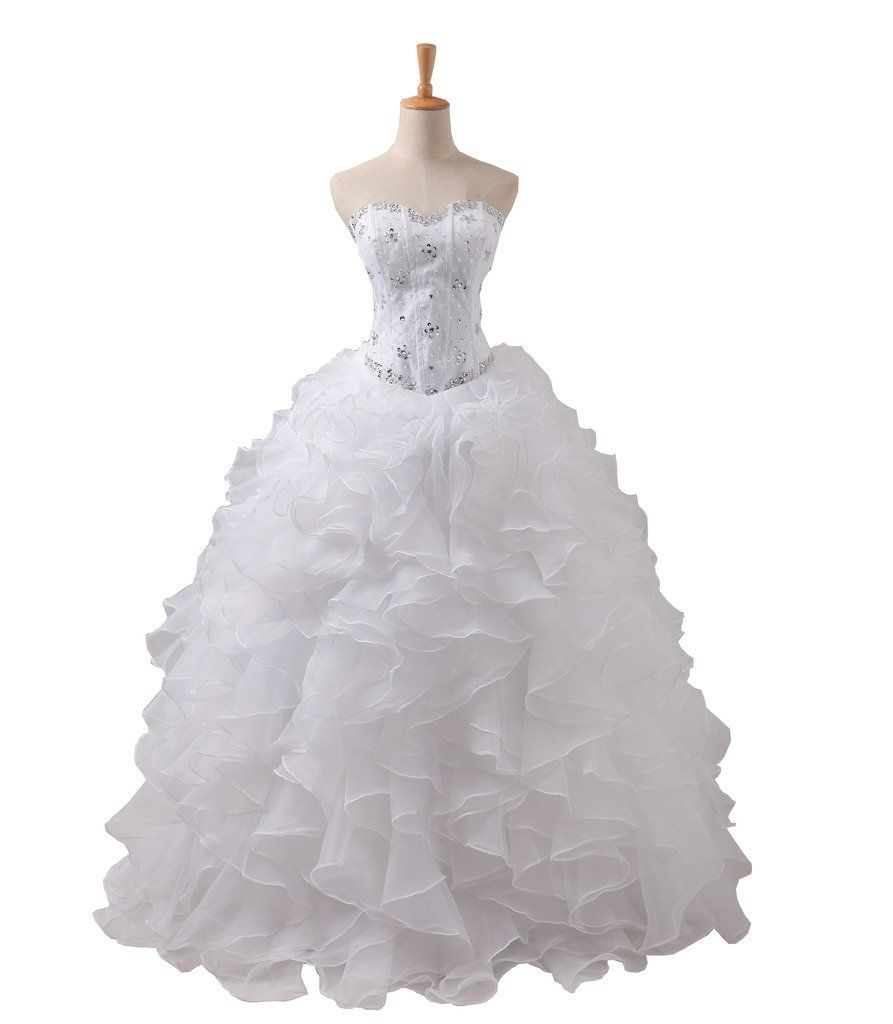 Yipeisha womenus beaded rulled sweetheart quinceanera dress formal
