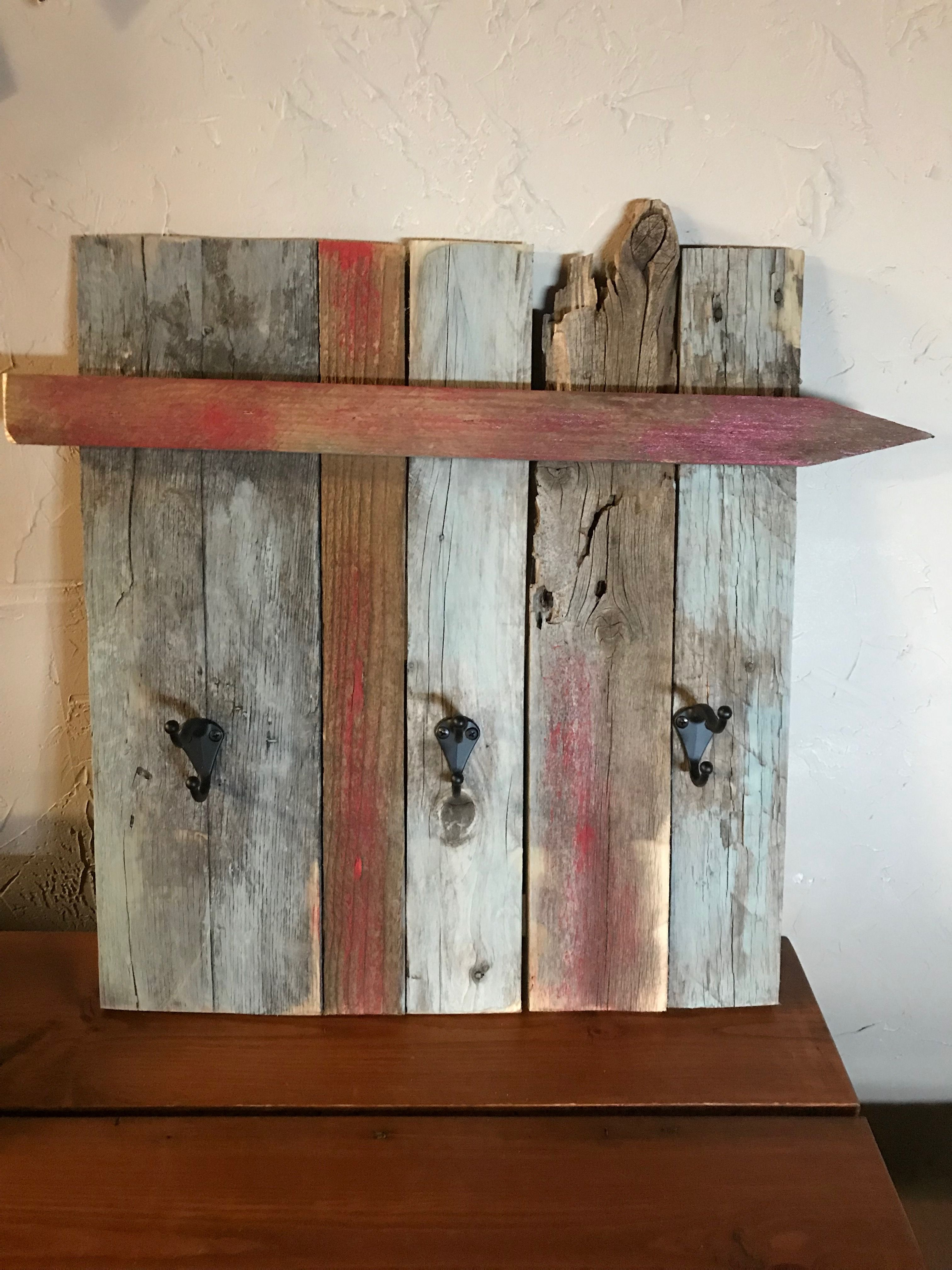 Pallet Wood Wall Decor With Hooks Wood Pallet Wall Wood Pallets