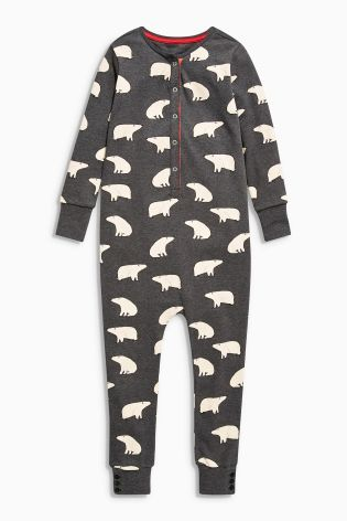 Buy Grey Polar Bear Print All-In-One (3-14yrs) from the Next UK online shop