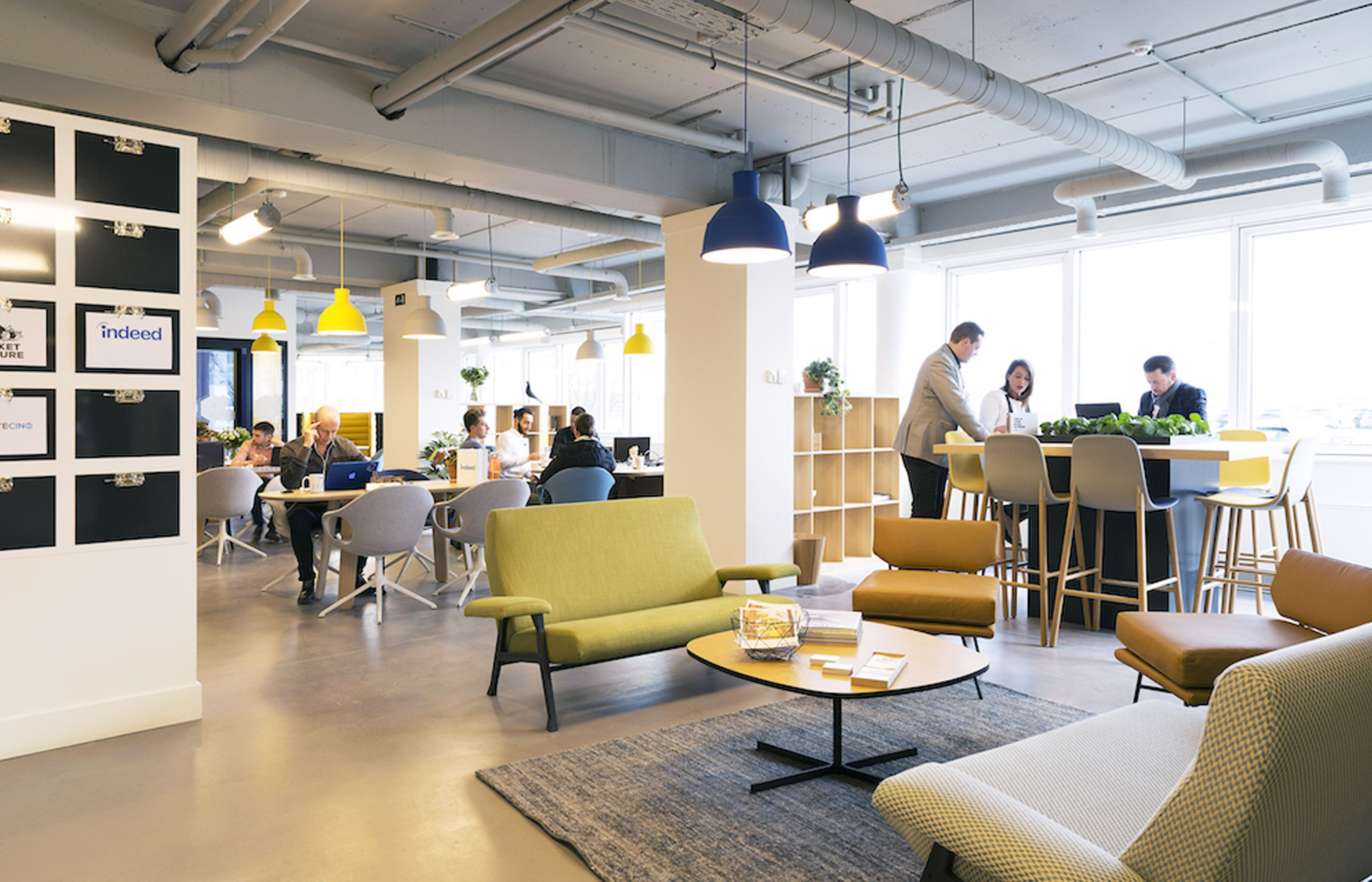 The innovative design offices, coworking spaces and