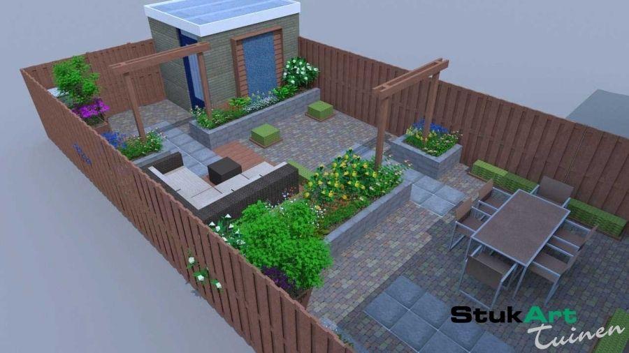 Tuinontwerp Kleine Tuin : Tuinontwerp kleine tuin houten utrecht stijlvolle kleine tuin
