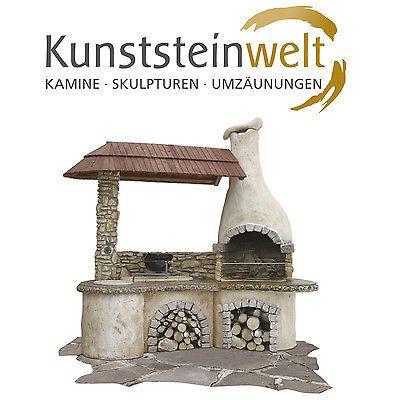 Neu Räuberküche Grillkamin Gartenkamin Spanferkelgrill Grill  XF03