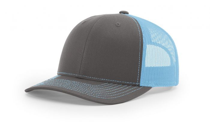 Charcoal Columbia Blue - 112 Trucker Mesh Snapback Adjustable Hat by  Richardson Caps 6eca338035d
