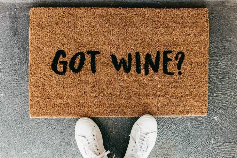The World S Most Fun Doormats And You Can Win One Tlc Interiors Door Mat Wine Door Mat Fun