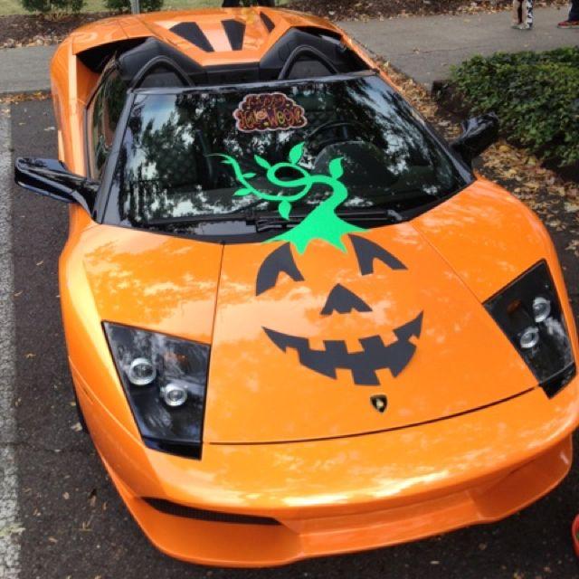 Lamborghini Pumpkin Trunk Or Treat
