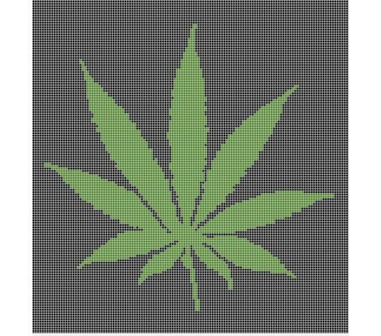 Free Crochet Pattern For Hemp Leaf : Marijuana Pot Leaf Crochet Afghan Pattern Graph Crochet ...