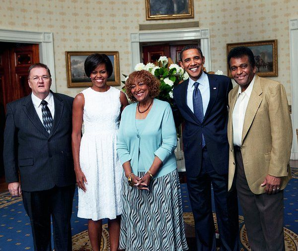 CHARLEY PRIDE , WIFE, AND OBAMAS