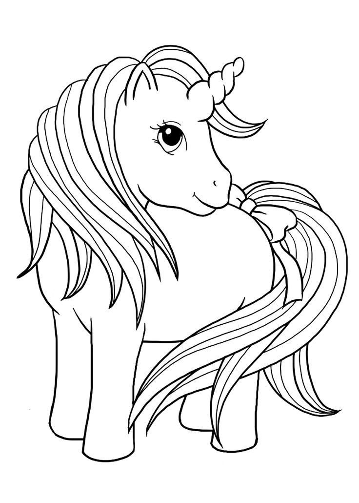 Unicorn Printable Coloring Pages | Horse coloring pages, Animal ...