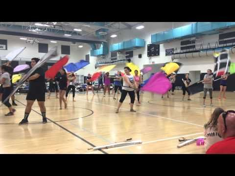 System Blue Color Guard Camp Grand Terrace, CA 2015 - YouTube