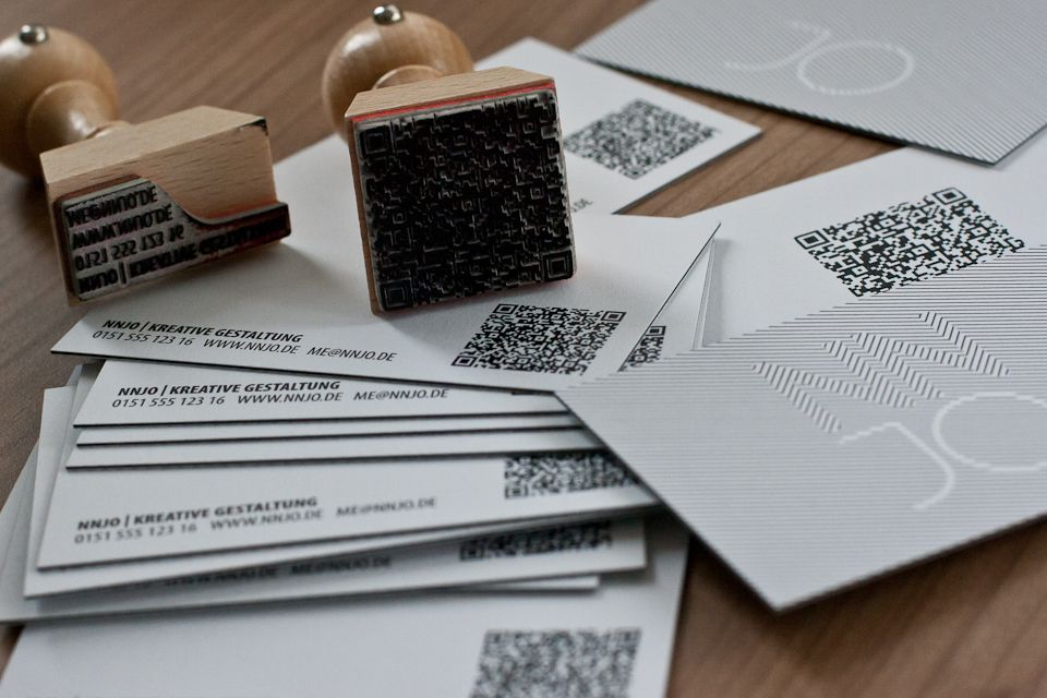2012 Neue Deluxe Visitenkarten Letterpress Style