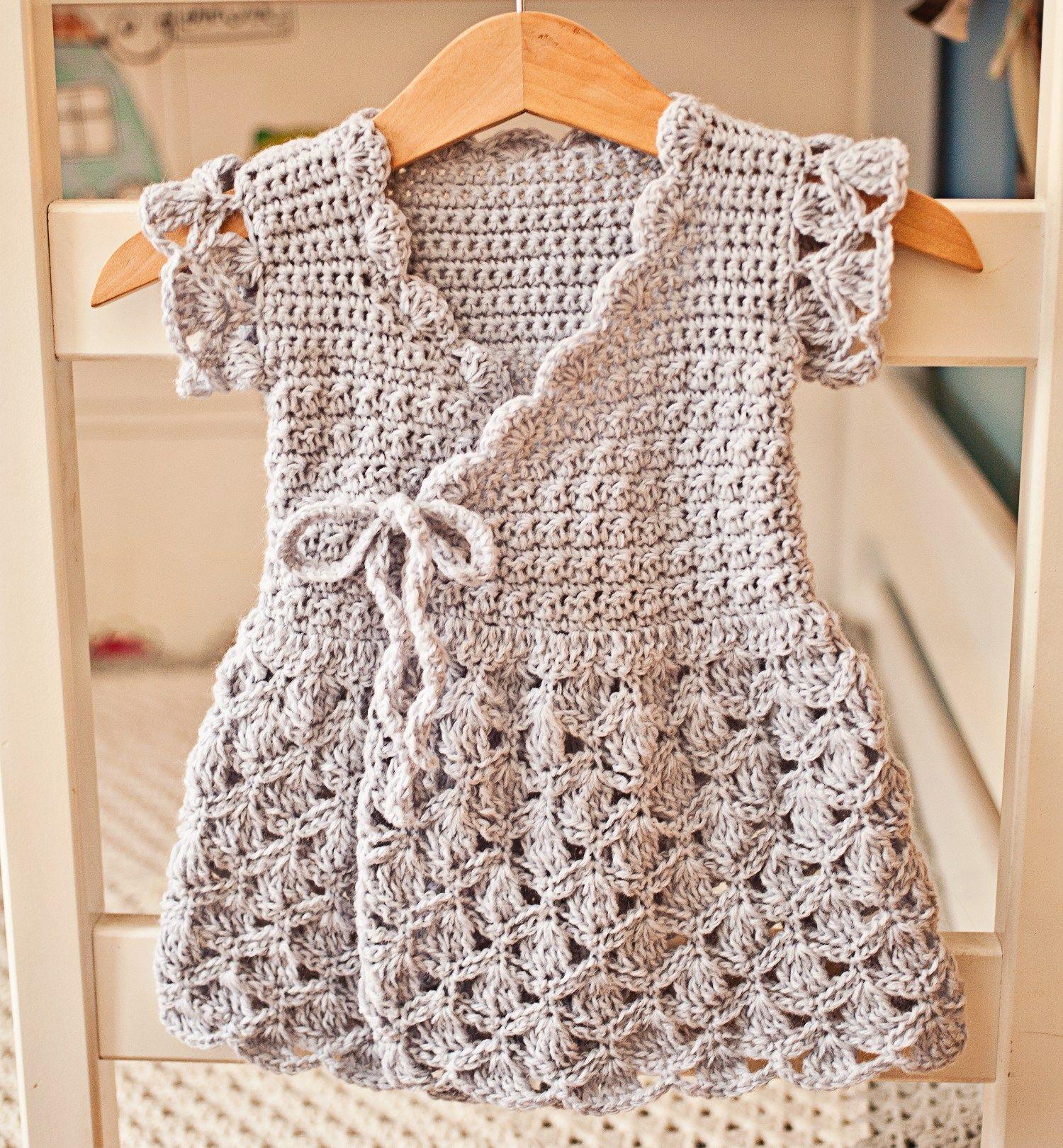 Lavender Wrap Dress, crochet pattern by Mon Petit Violon   süzan ...