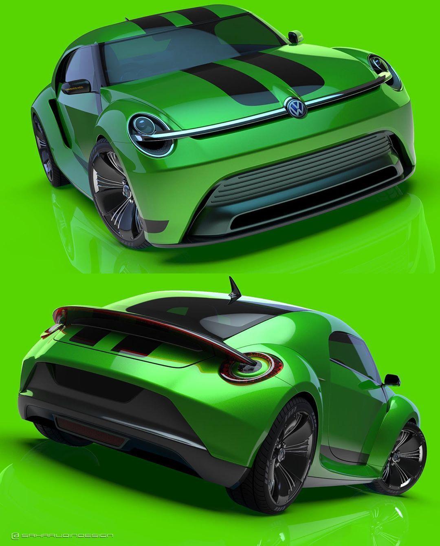 Saharudin Busri On Instagram Vw Beetle Concept 2020 Rendering In Green Colour Scheme Automotivedesign Vehi In 2020 Green Color Schemes Vw Beetles Color Schemes