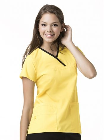 3363abb9d95 The Charlie 6026 5 Pocket, Y-neck Wrap - WonderWink Available at Scrubs &  More, The Uniform Store in the following colors: Black, Ceil Blue, Green  Apple, ...
