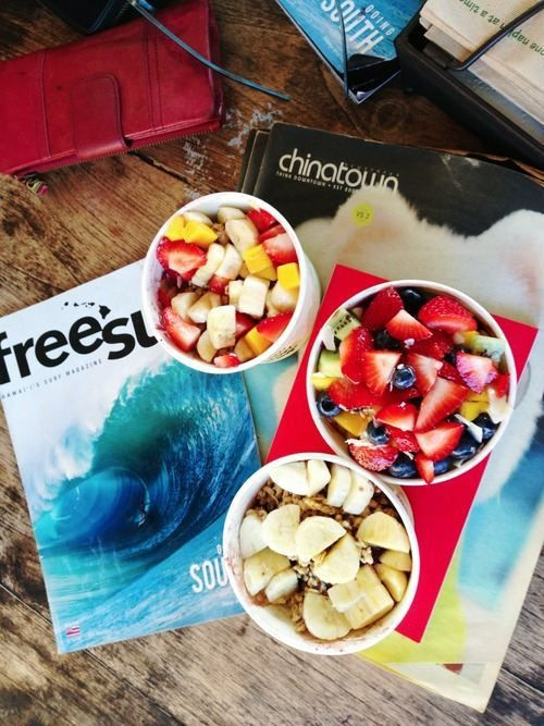 FRUIT and granola