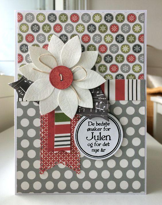 31 års present Card christmas flower poinsettia leaves MFT poinsettia Die namics  31 års present