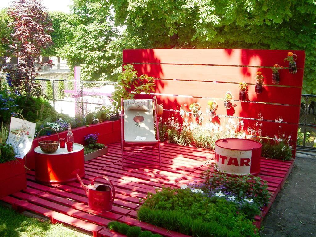 terasse palette jardin pinterest fraise terrasse palette et terrasses. Black Bedroom Furniture Sets. Home Design Ideas