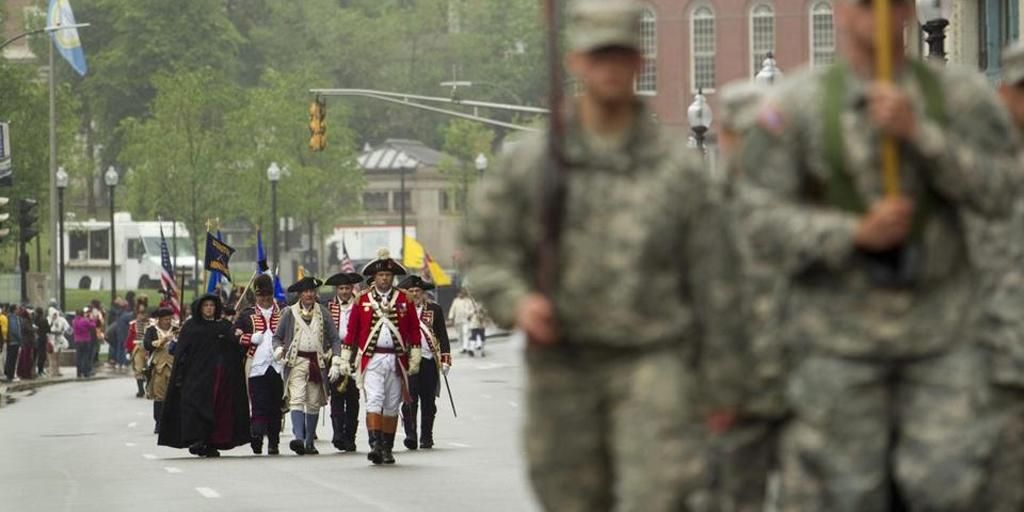 .@MassGovernor, others, attended June Day events, which included a parade to Boston Common: http://trib.al/v6y6DYZ