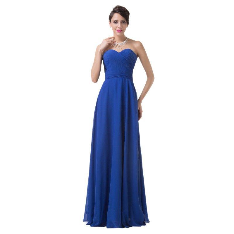 2f5851396493 Modré spoločenské šaty CL6232