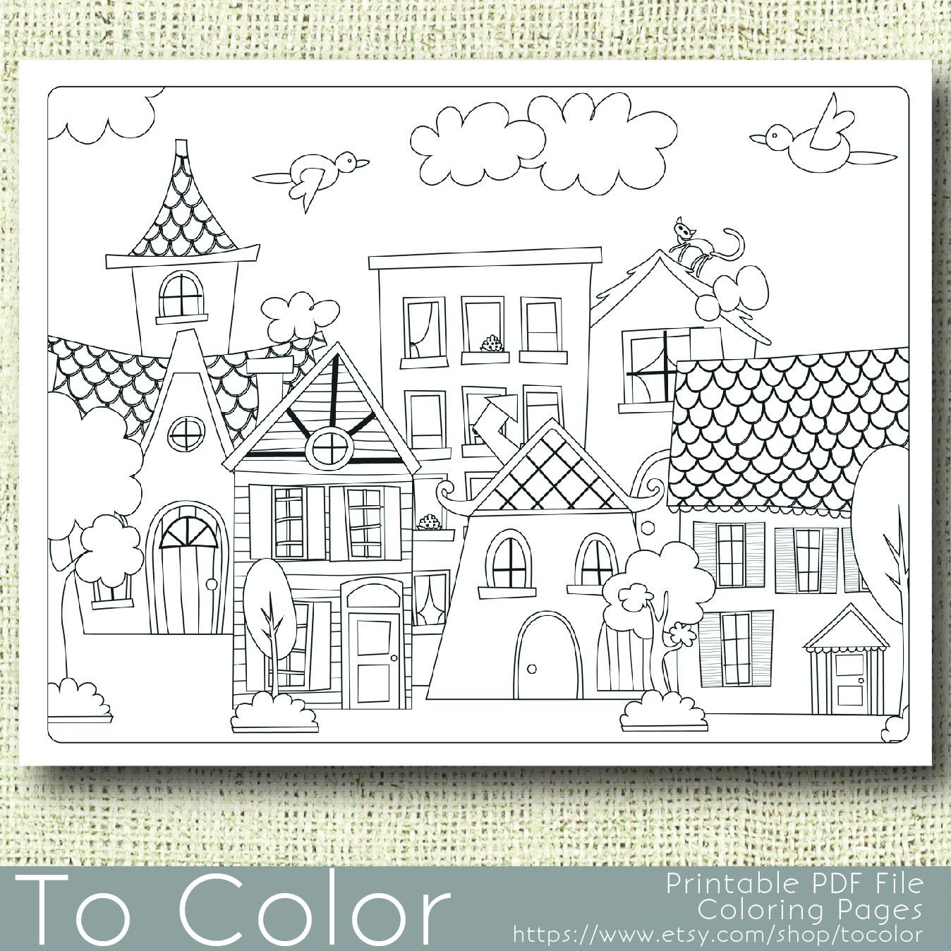 House colouring pages easy coloring pages coloring pages for grown ups free printable