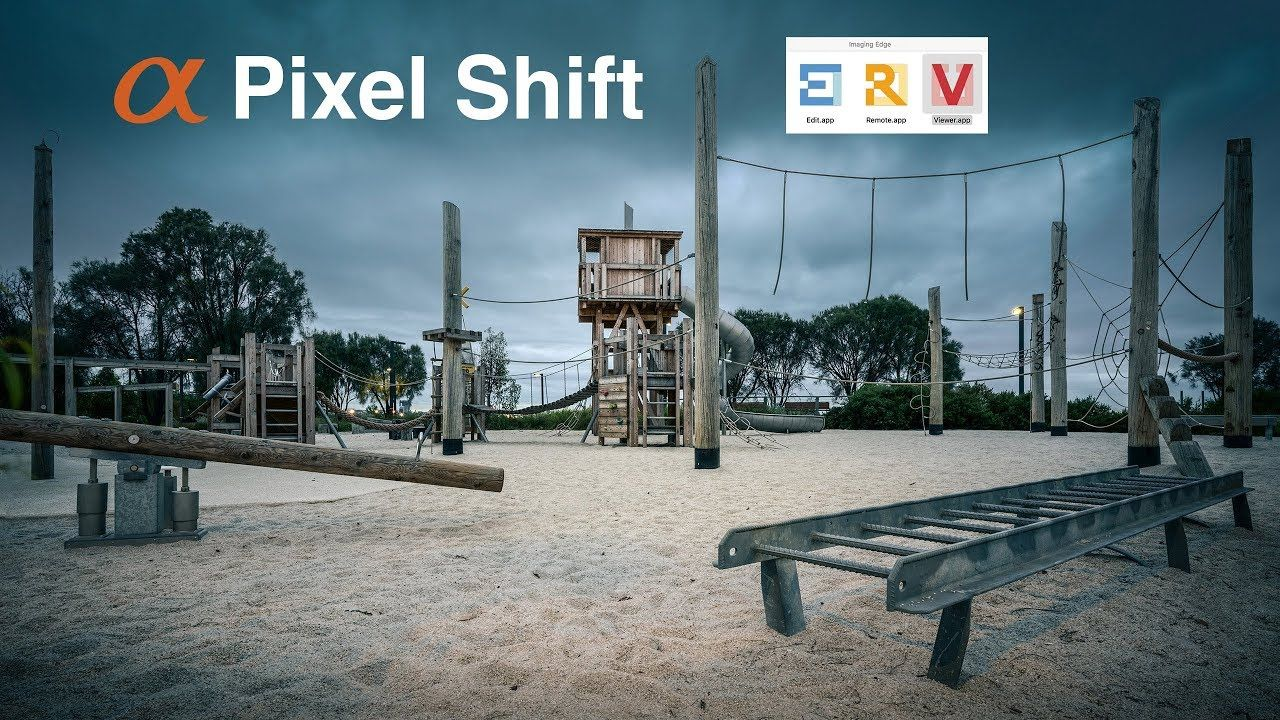 How to process pixel shift multi-shooting files captured on