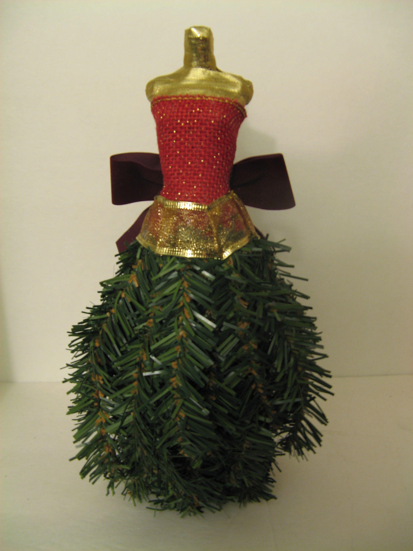 Make A Miniature Dress Form Christmas Tree Using Recycled Materials Dress Form Christmas Tree Christmas Tree Dress Mini Dress Form