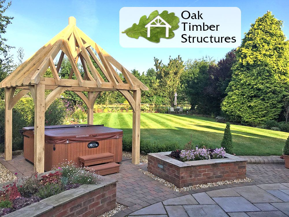 Best Solid Oak Framed Gazebo Waiting For The Cedar Shingle Roof 400 x 300