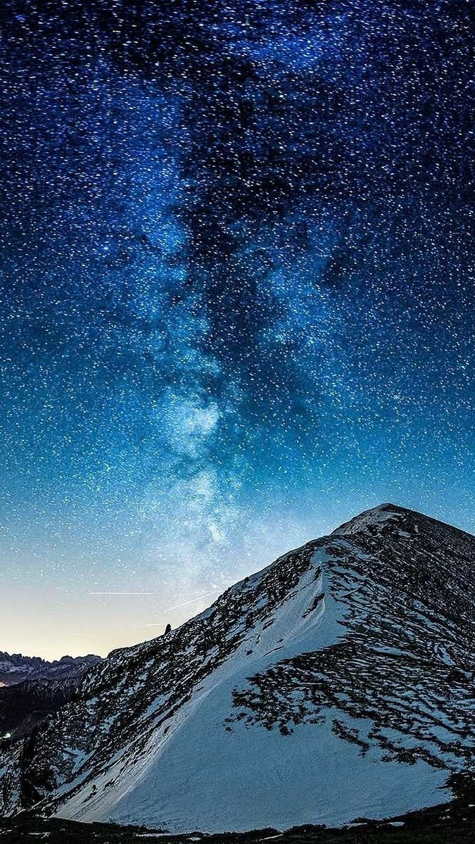 Milky Way Galaxy View From Mountain Iphone Wallpaper Iphone