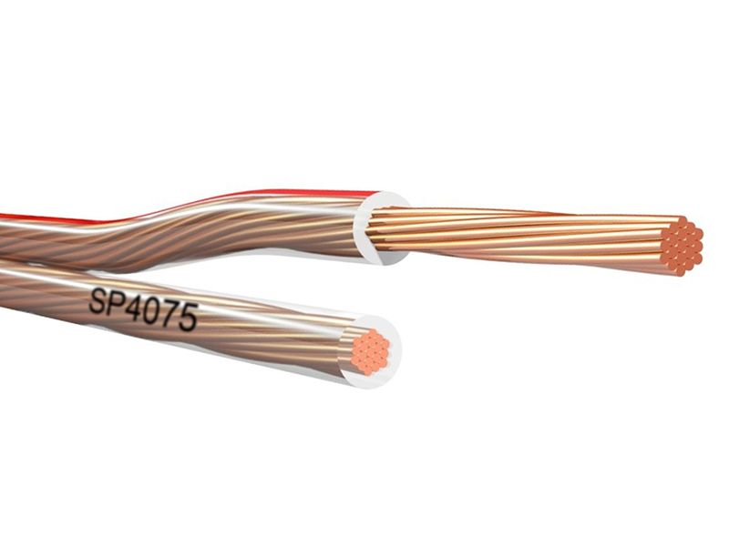 18 Gauge Transparent Speaker Wire With Red Polarity Indentification In 2020 Speaker Wire Speaker Transparent