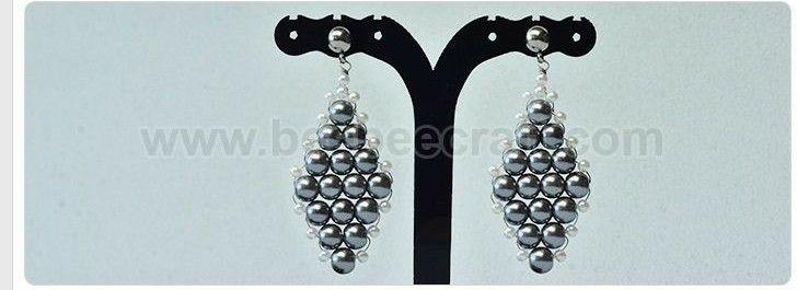 e073d9728 Bisutería PASO A PASO para hacer estos elegantes aretes con perlas    How  to make