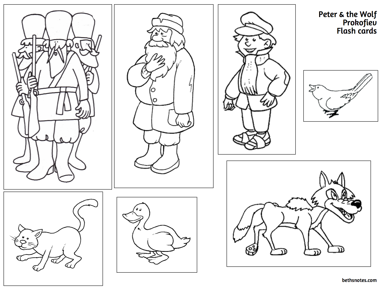 Beth's Music Notes: Peter and the Wolf printable and sound