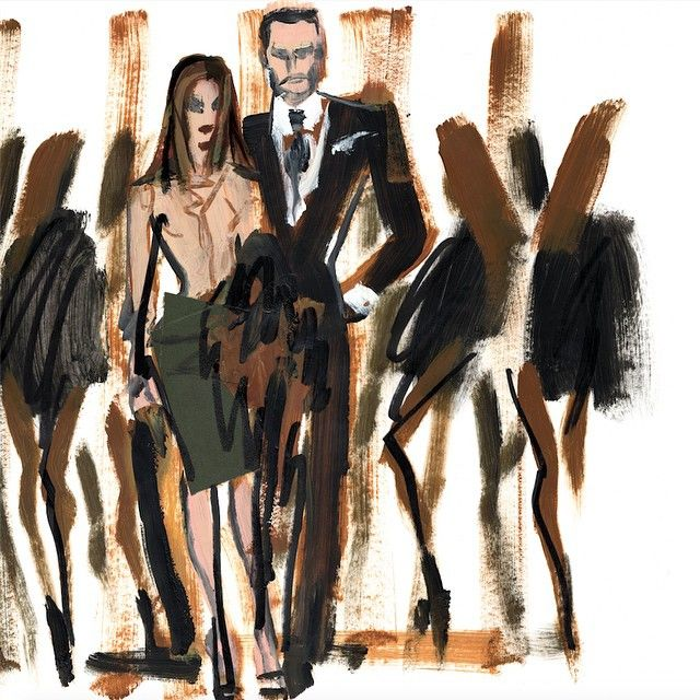 """15.6 k mentions J'aime, 102 commentaires - TOM FORD (@tomford) sur Instagram: """"@carineroitfeld and Tom, illustrated by @donalddrawbertson"""""""
