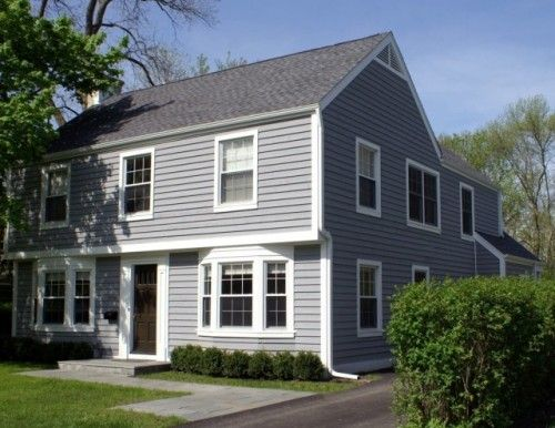 Simple Traditional Garrison Colonial Home Colonial Exterior Exterior Remodel House Exterior