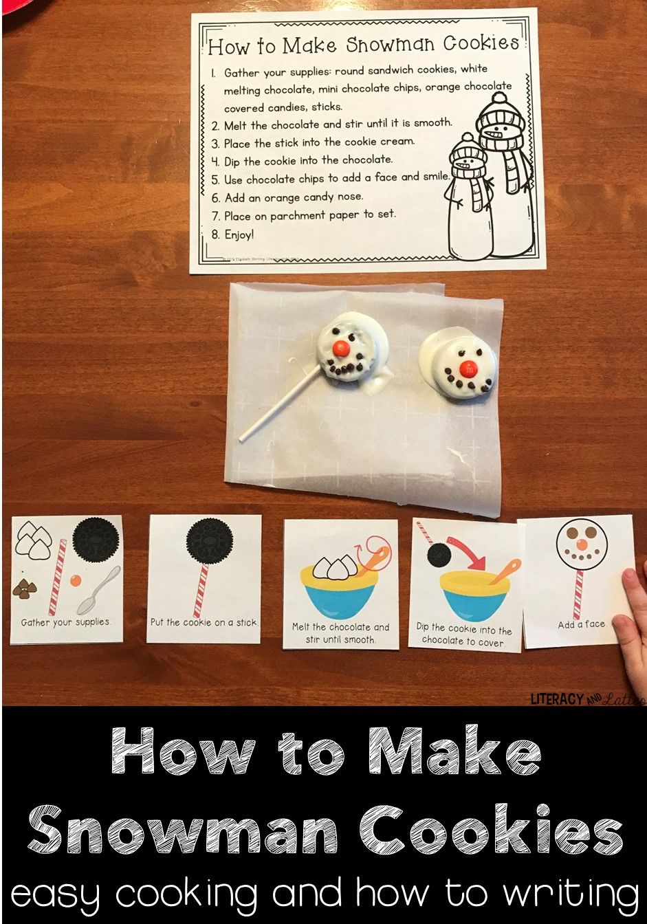 Snowman Snacks {how to writing and cooking in the classroom