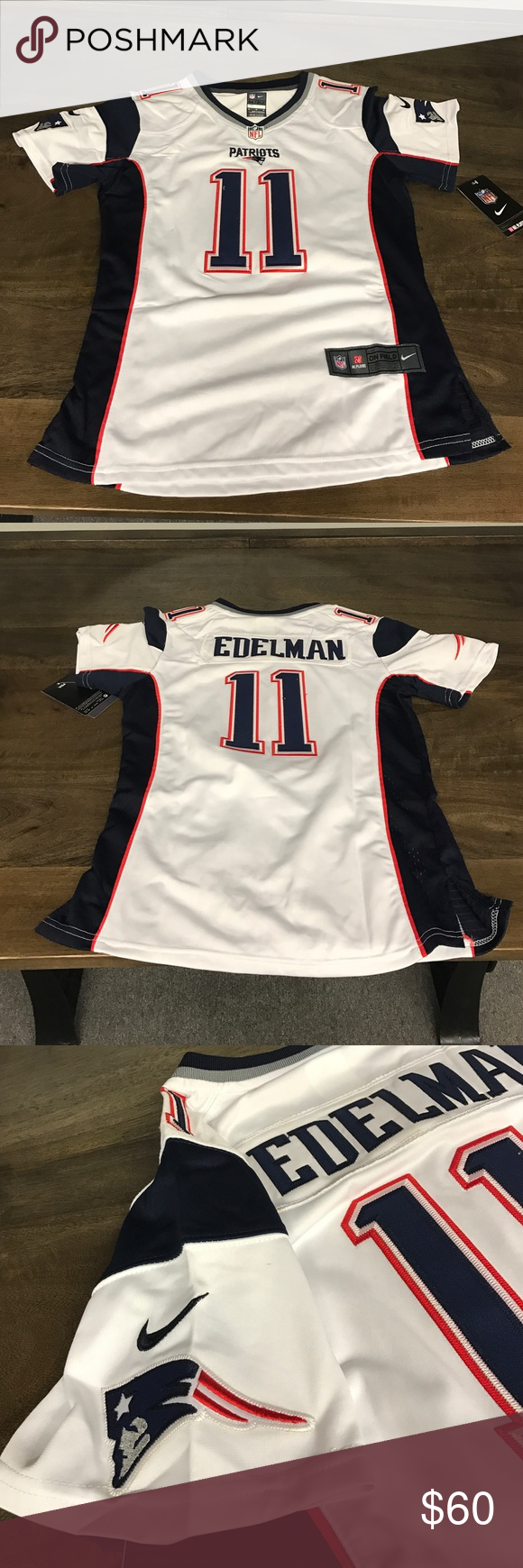 Julian Edelman New England Patriots Women s Jersey NWT. Authentic New  England Patriots Jersey. Women s Medium. Never worn Nike Tops 34876d7701