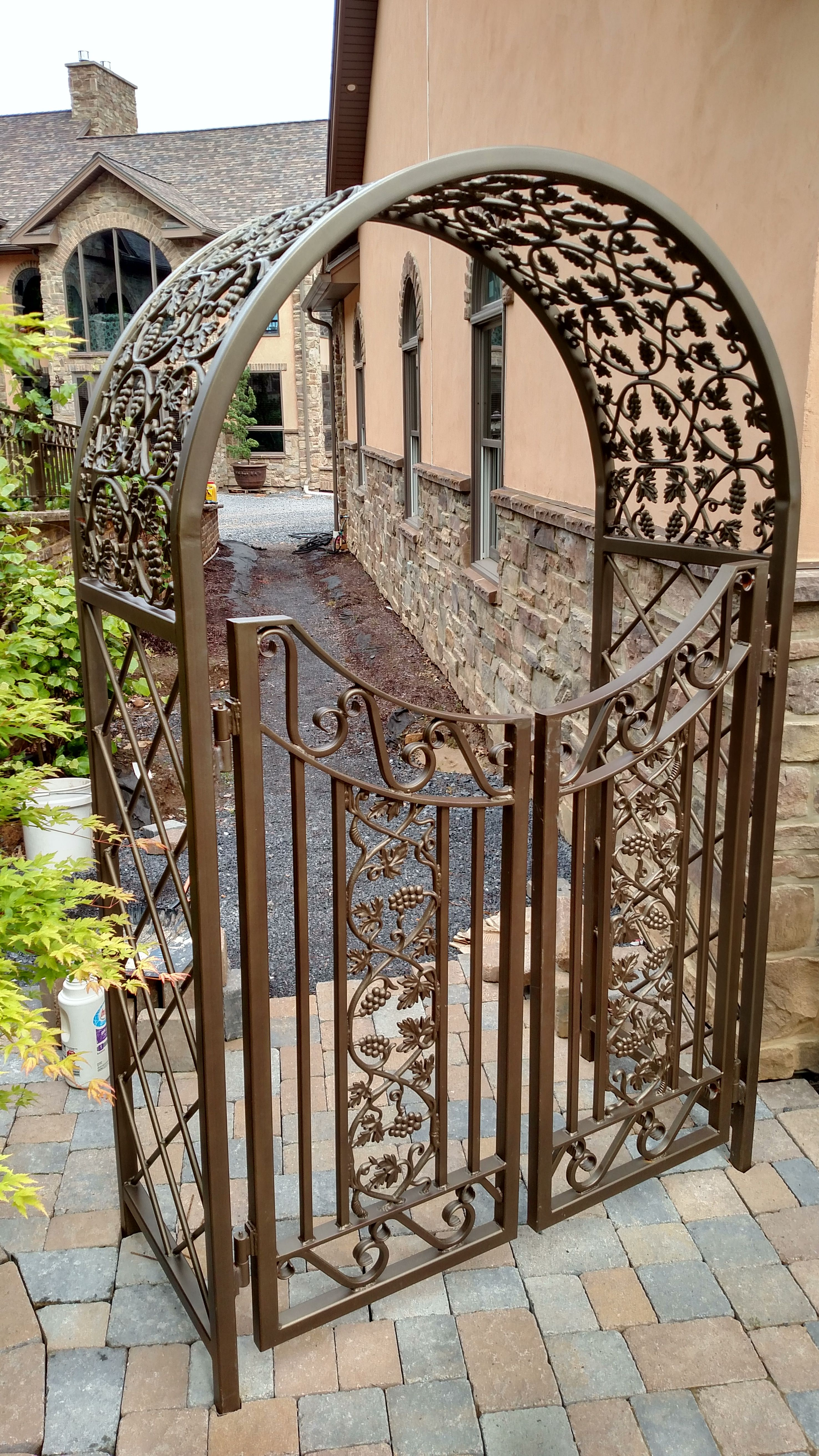 Fancy Decorative Iron Trellis Made For Home In Williamsport Pa