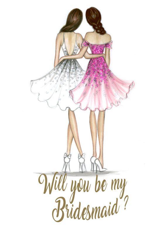 Bridesmaid Pdf Brunette Bride And Brunette By Loveillustration