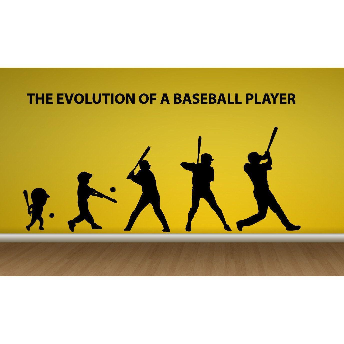 Baseball Evolution Sticker Vinyl Wall Art | Recreation Board ...