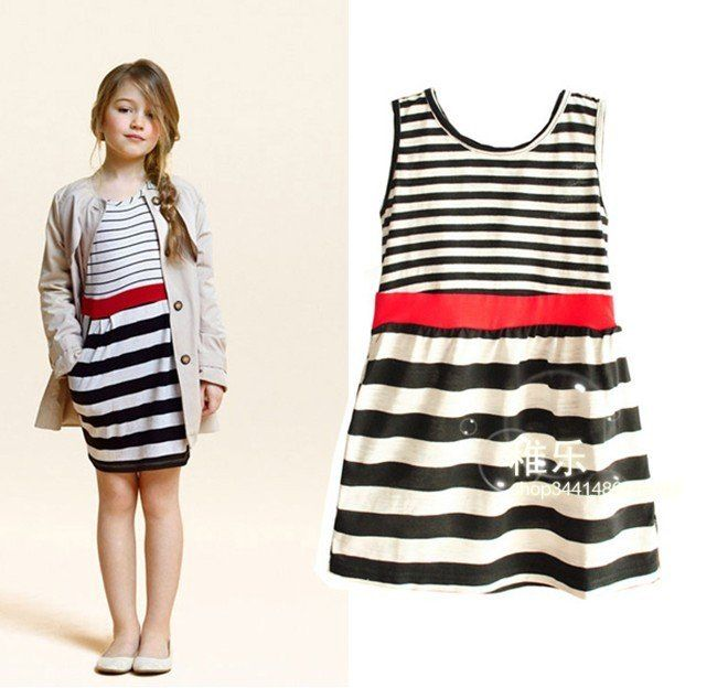 Strip Design Frock with Cool Cream Jacket | Kid's Apparels ...
