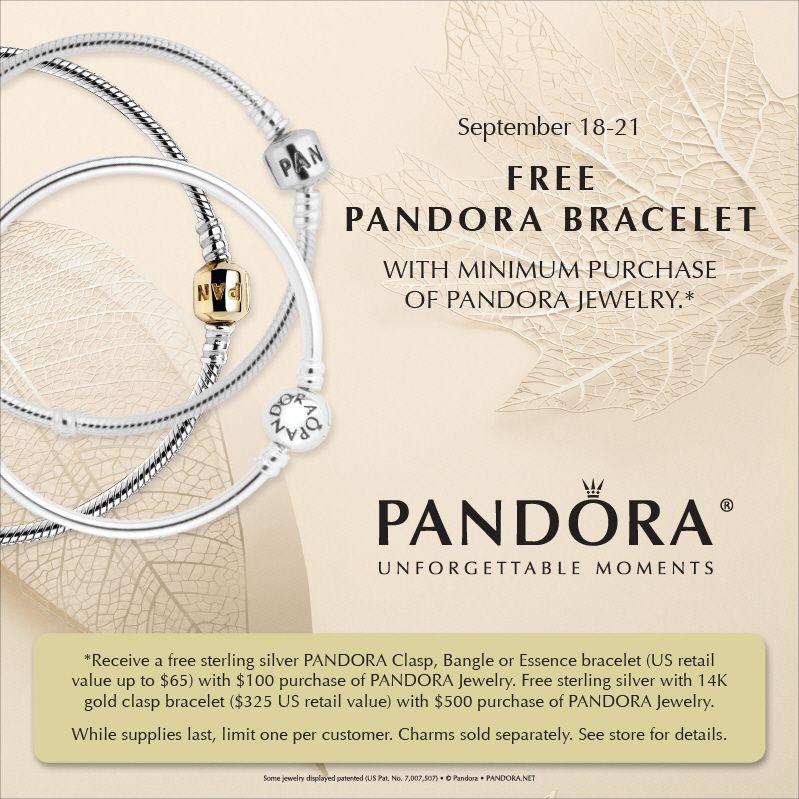 Our Free Pandora Bracelet Event Runs Thursday Sept 18 Thru Sunday 21 2017 Think Holiday Gifts