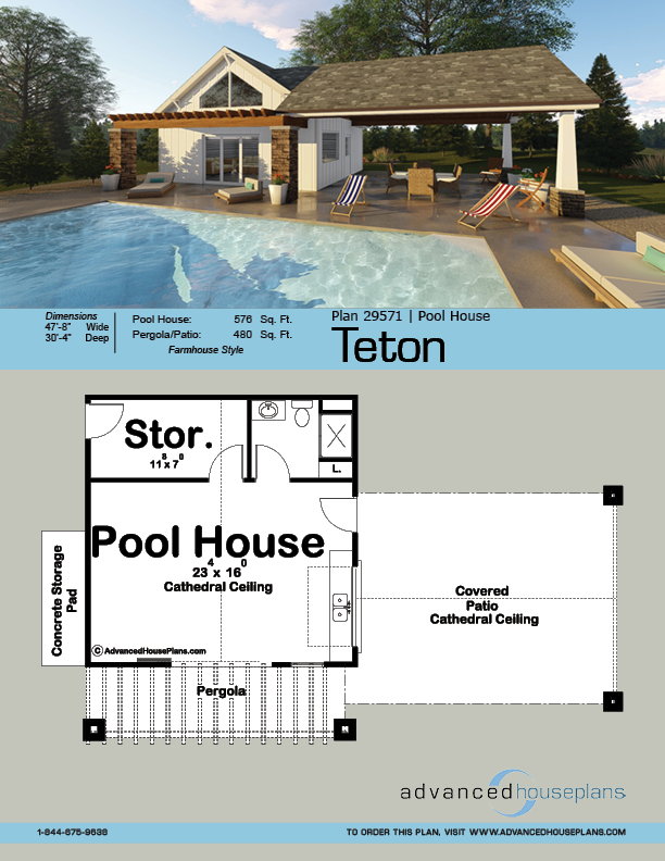 Pool House Plan Teton Pool House Plans Pool Houses Pool House