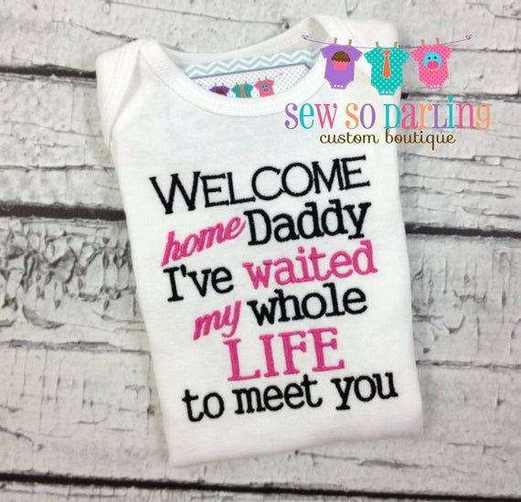 Welcome home daddy baby outfit - baby girl outfit - I've ...